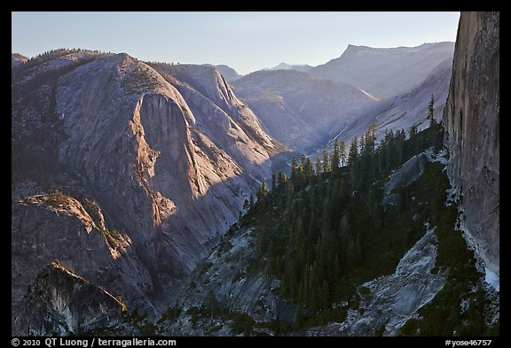 Tenaya Canyon and Mt Watkins. Yosemite National Park (color)