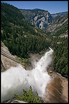 Nevada Falls from the brinks. Yosemite National Park ( color)
