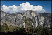 Half-Dome and cloud. Yosemite National Park ( color)