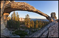 Half-Dome seen through Indian Arch. Yosemite National Park ( color)