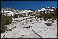 Granite slabs and high Sierra peaks. Yosemite National Park ( color)