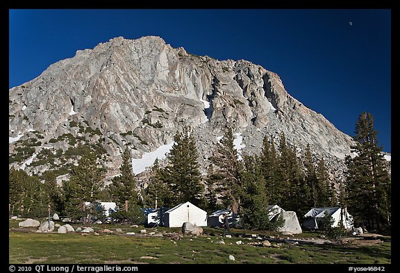 Tents of Sierra High camp, Vogelsang. Yosemite National Park, California, USA.