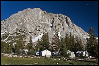 Tents of Sierra High camp, Vogelsang. Yosemite National Park, California, USA. (color)