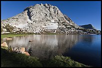 Fletcher Peak rising above Fletcher Lake. Yosemite National Park ( color)
