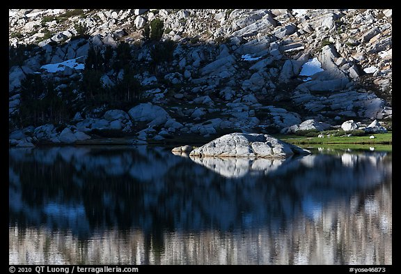Rock and shadow, Vogelsang Lake. Yosemite National Park (color)