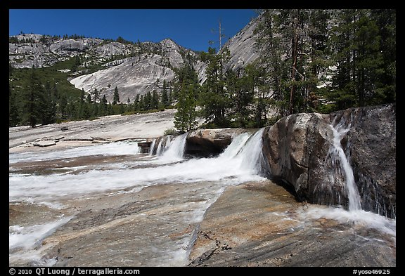 Cascade, Upper Merced River Canyon. Yosemite National Park (color)