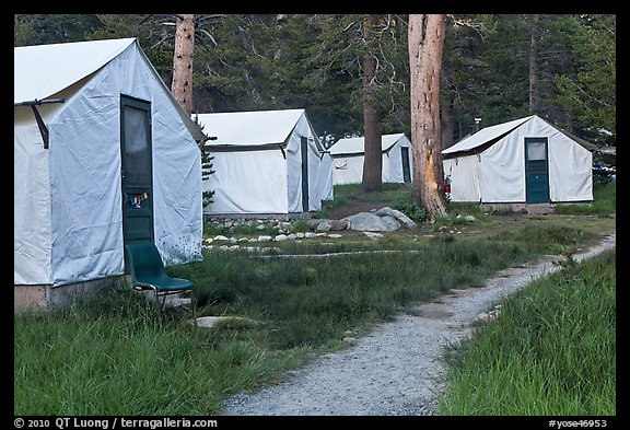 Tuolumne Lodge tents. Yosemite National Park (color)