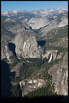 Merced River drainage with Nevada and Vernal Falls. Yosemite National Park ( color)