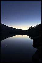 Upper McCabe Lake, sunset. Yosemite National Park ( color)