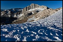 Snow field and North Peak, morning. Yosemite National Park, California, USA. (color)
