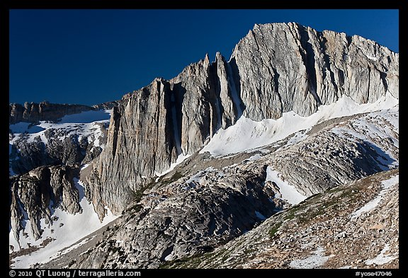 Craggy face of North Peak mountain. Yosemite National Park (color)