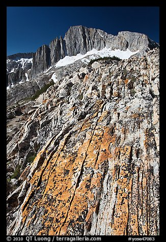 Colorful rock and North Peak. Yosemite National Park (color)