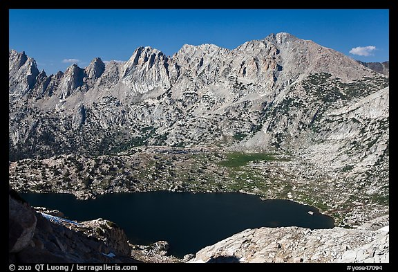 Shepherd Crest and Upper McCabe Lake from above. Yosemite National Park (color)