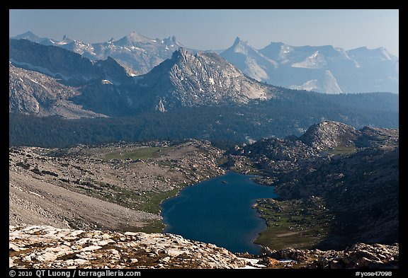 Roosevelt Lake and mountain ranges. Yosemite National Park (color)