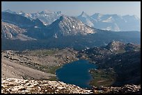 Roosevelt Lake and mountain ranges. Yosemite National Park ( color)