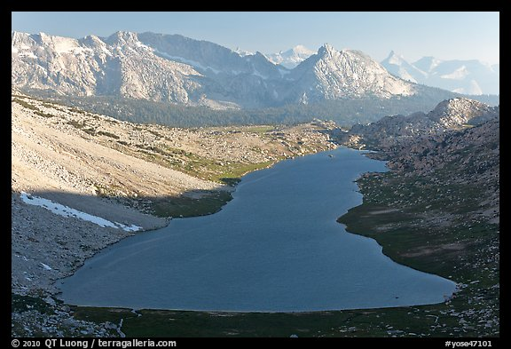Roosevelt Lake from above, late afternoon. Yosemite National Park (color)