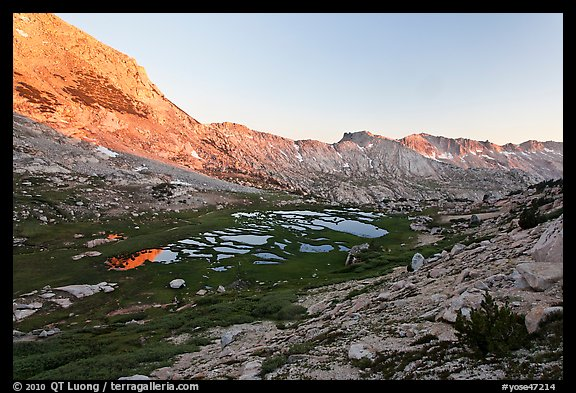 High valley at sunset. Yosemite National Park (color)