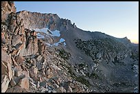 Rocky slopes of Mount Connesss, dawn. Yosemite National Park, California, USA. (color)