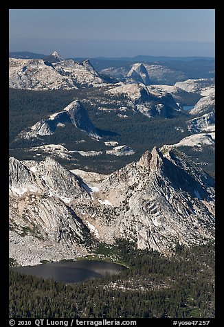 Ragged Peak, Fairview Dome, Half-Dome. Yosemite National Park (color)