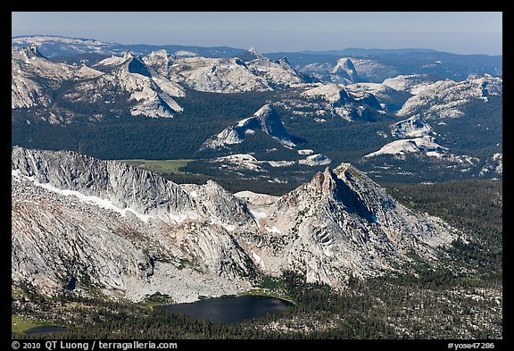 Young Lakes, Tuolumne Meadow, and Half-Dome in the distance. Yosemite National Park (color)