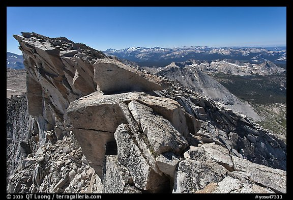 Top of Mount Conness. Yosemite National Park (color)