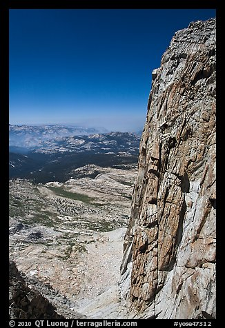 Steep rock face of Mount Conness. Yosemite National Park (color)