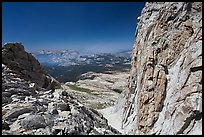 Notch below Mount Conness summit. Yosemite National Park ( color)
