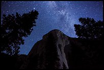 El Capitan and Milky Way at night. Yosemite National Park ( color)