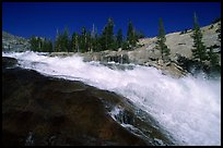 Le Conte falls of the Tuolumne River. Yosemite National Park, California, USA. (color)