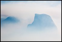 Half-Dome and Clouds Rest in smoke cloud. Yosemite National Park ( color)