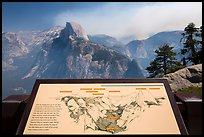Glacier Point lower terrace intepretive sign. Yosemite National Park ( color)