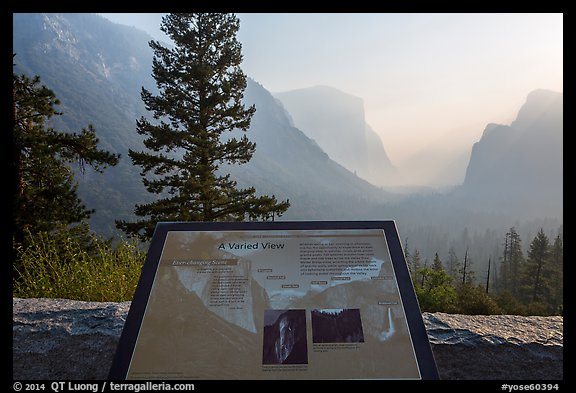 Discovery View interpretive sign. Yosemite National Park (color)