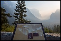 Discovery View interpretive sign. Yosemite National Park, California, USA.