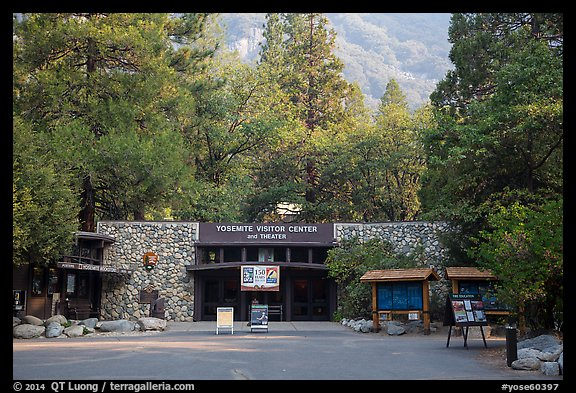 Valley visitor center. Yosemite National Park (color)