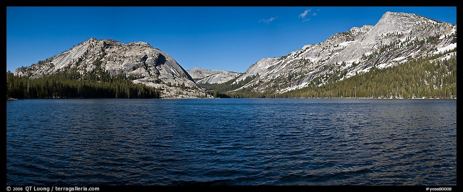 Tenaya Lake, Medlicott Dome, and Tenaya Peak. Yosemite National Park (color)