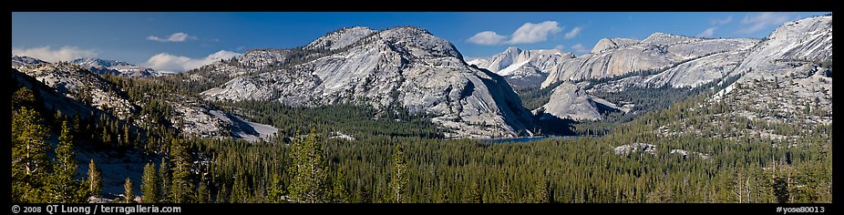 Granite domes and Tenaya Lake. Yosemite National Park (color)