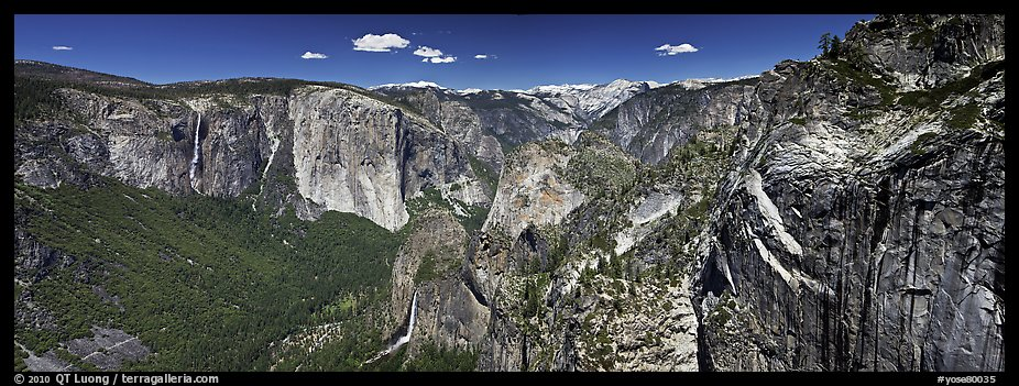 View of West Yosemite Valley. Yosemite National Park (color)