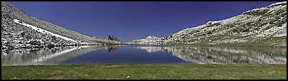 Wide view of alpine lake. Yosemite National Park (Panoramic color)
