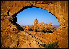 Turret Arch seen from rock opening. Arches National Park ( color)