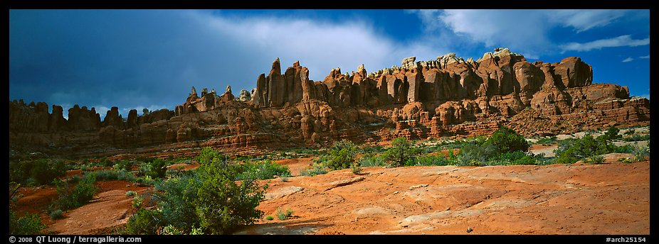 Sandstone pinnacles, Klondike Bluffs. Arches National Park (color)