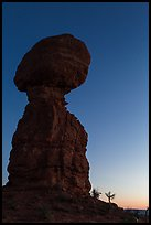 Balanced rock at dusk. Arches National Park, Utah, USA. (color)