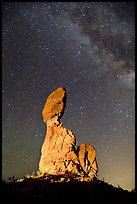 Balanced rock at night. Arches National Park, Utah, USA. (color)