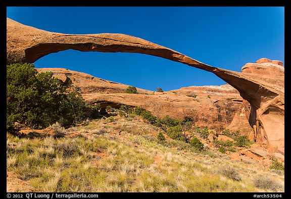 290 feet span of landscape Arch. Arches National Park (color)