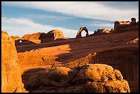 Delicate Arch from Upper Delicate Arch Viewpoint. Arches National Park, Utah, USA. (color)