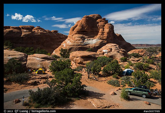Devils Garden Campground. Arches National Park (color)