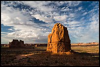 Tower, late afternoon. Arches National Park, Utah, USA. (color)