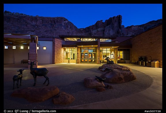 Visitor Center at dawn. Arches National Park (color)