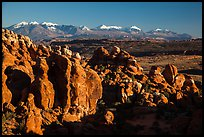 Fiery Furnace and La Sal Mountains. Arches National Park ( color)
