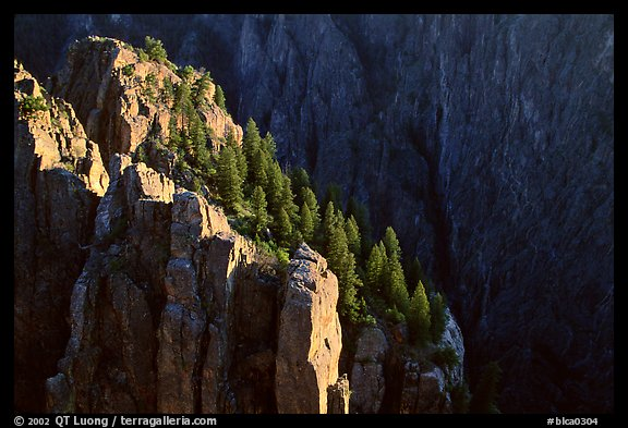Island Peaks at sunset, North Rim. Black Canyon of the Gunnison National Park (color)