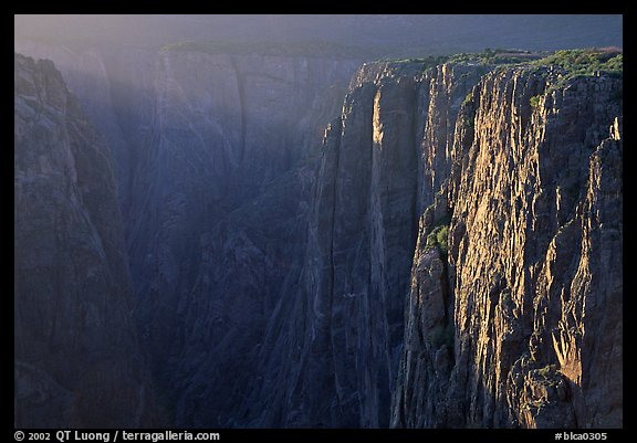 Narrows at sunset, North rim. Black Canyon of the Gunnison National Park (color)